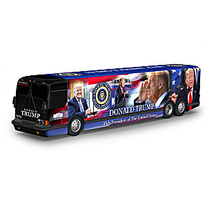 Presidential Tour Bus Sculpture With Trump Official Photos