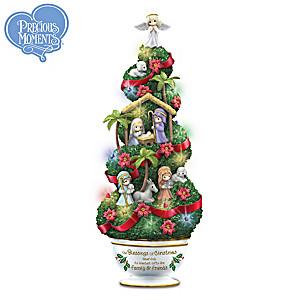 Precious Moments Illuminated Nativity Topiary Sculpture