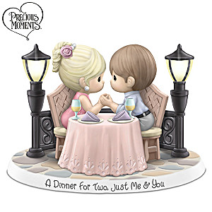 A Dinner For Two, Just Me & You Illuminated Figurine