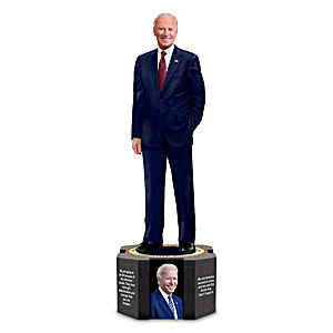 President Joseph R. Biden Sculpture With Photos And Quotes
