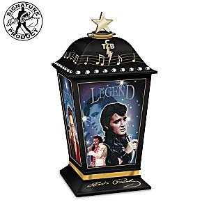 "Elvis Presley ""The Legend"" Illuminated Lantern With Photos"