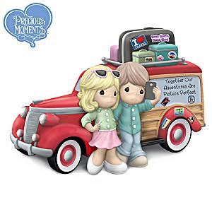 Precious Moments Woody Wagon Travel Couple Figurine
