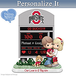 Precious Moments Ohio State Buckeyes Personalized Figurine