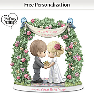 Precious Moments Wedding Day Personalized Porcelain Figurine
