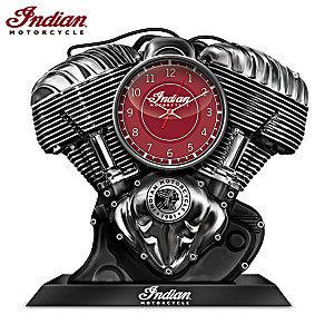 Indian Motorcycle Thunderstroke Clock Plays Engine Sounds