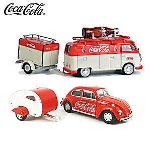 1:43-Scale COCA-COLA 4-Piece Diecast Car And Trailer Set