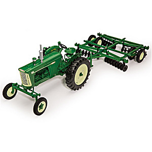1:16-Scale Oliver 880 Diecast Tractor And Implements Set