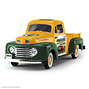 1:18-Scale Packers 1948 Ford Pickup Truck Sculpture