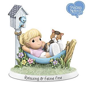 "Precious Moments ""Relaxing & Feline Fine"" Figurine"