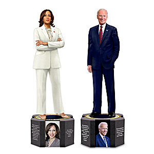 Biden And Harris Presidential Sculptures With Quotes