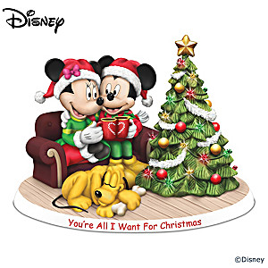 Disney You're All I Want For Christmas Illuminated Figurine