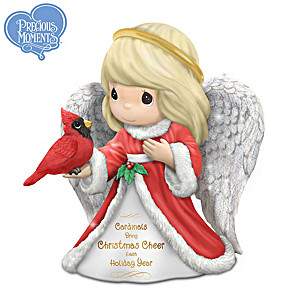 Precious Moments Christmas Cardinal Angel Figurine