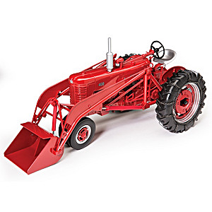 1:16-Scale Farmall 400 Diecast Tractor With Front Loader