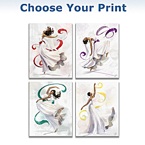 "Sara Biddle ""Angels Of Praise"" Wrapped Canvas Prints"
