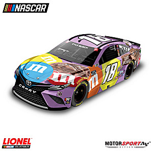 1:24-Scale Kyle Busch 2021 M&M'S Brownie Diecast Car
