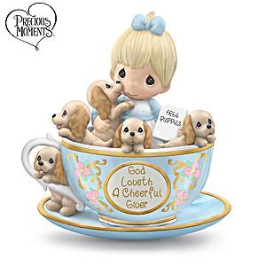 Precious Moments God Loveth A Cheerful Giver Figurine