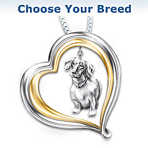 """""""Love Your Dog"""" Breed-Specific Pendant Necklace"""