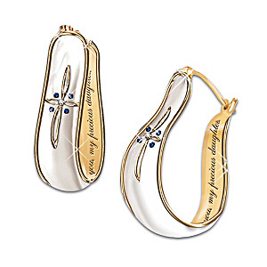 """""""My Blessed Daughter"""" Sapphire And Diamond Earrings"""