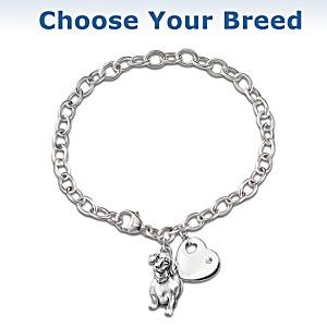"""""""Loyal Companion"""" Diamond Charm Bracelet"""