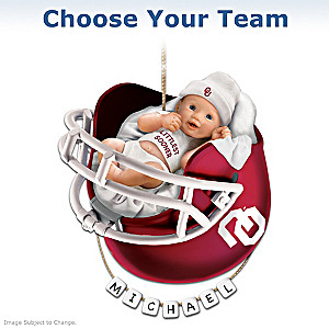 """Choose Your Team"" College Football Baby's First Ornament"