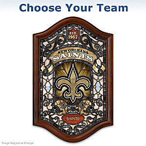 NFL Illuminated Stained-Glass Wall Decor: Choose Your Team