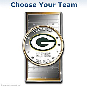 Official NFL Silver Dollar Money Clip: Choose Your Team