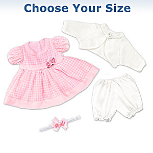 Party Dress Baby Doll Accessory Set: Choose Your Size