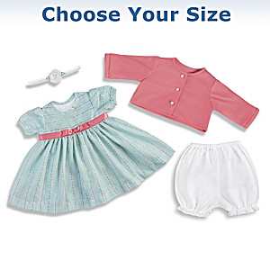 Sweet And Sunny Baby Doll Outfit Set: Choose Your Size