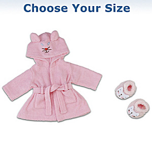 Baby Doll Robe and Fuzzy Slipper Set: Choose Your Size