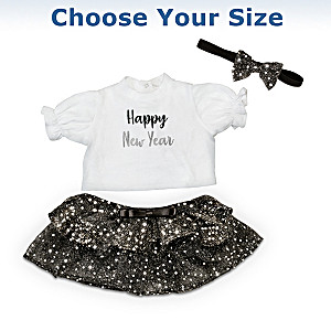 New Year's Baby Doll Outfit Set: Choose Your Size