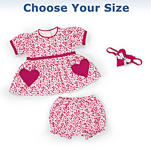 """Be My Valentine"" 3-Piece Baby Doll Outfit: Choose Your Size"