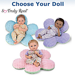 Precious Petals Baby Dolls With Reversible Flower Pillows