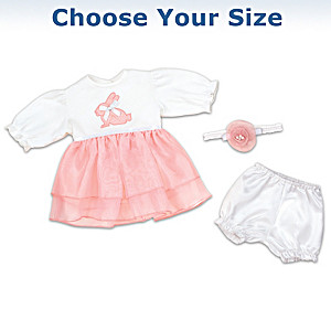 3-Piece Springtime Baby Doll Outfit Set: Choose Your Size