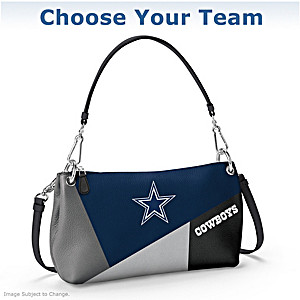 3-In-1 Convertible NFL Handbag With Logos: Choose Your Team