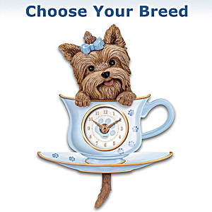 Hourly Chime Wagging Tail Dog Clock: Choose Your Breed