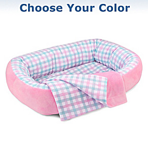Reversible Bassinet And Matching Blanket: Choose Your Color