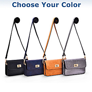 Crossbody Handbag With Cell Phone Window: Choose Your Color