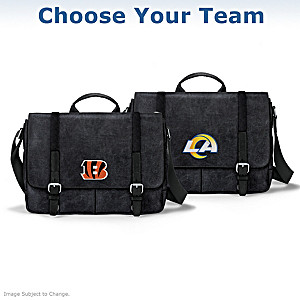 NFL Washed Canvas Men's Messenger Bag: Choose A Team