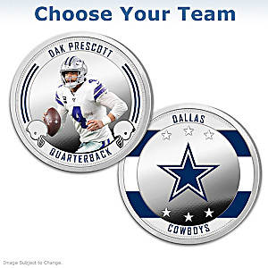 NFL Proof Coin Collection With Display: Choose Your Team