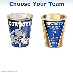 NFL Shot Glasses With Colorful Finishes: Choose Your Team