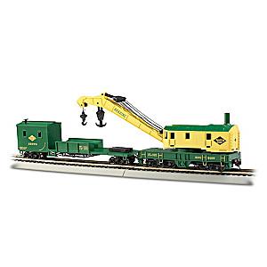 HO Scale Reading RR 250-Ton Steam Crane & Boom Tender