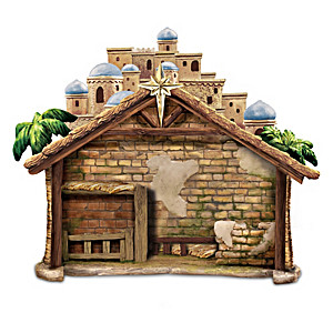 """Holy Creche"" Nativity Accessory Backdrop Sculpture"
