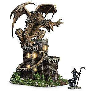 """Rockscar The Eternal"" Lighted Sculpture With Grim Reaper"