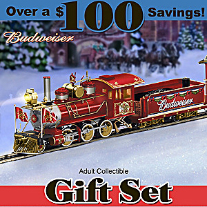 Exclusive Budweiser Illuminated Holiday Express Train Set