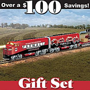 """HO-Scale """"Farmall Express"""" Illuminated Electric Train Set"""
