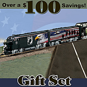 "HO-Scale ""POW MIA Express"" Illuminated Electric Train Set"