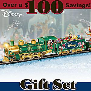 """Disney """"Holiday Celebration Express"""" Illuminated Train Set"""