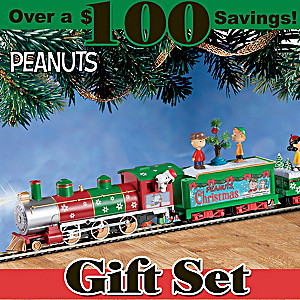 "HO-Scale ""PEANUTS"" Illuminated Electric Christmas Train Set"