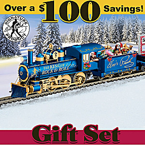 "Elvis ""Taking Care Of CHRISTMAS"" Illuminated Train Set"
