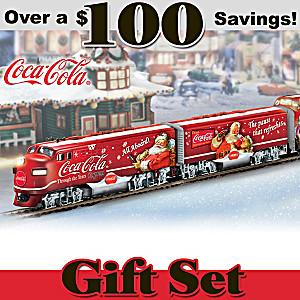 The Illuminated COCA-COLA Christmas Train Set